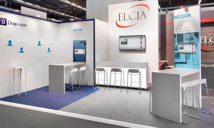 Marketing Exhibition Stand Goal : Art event stand mobilier signalétique toutes les